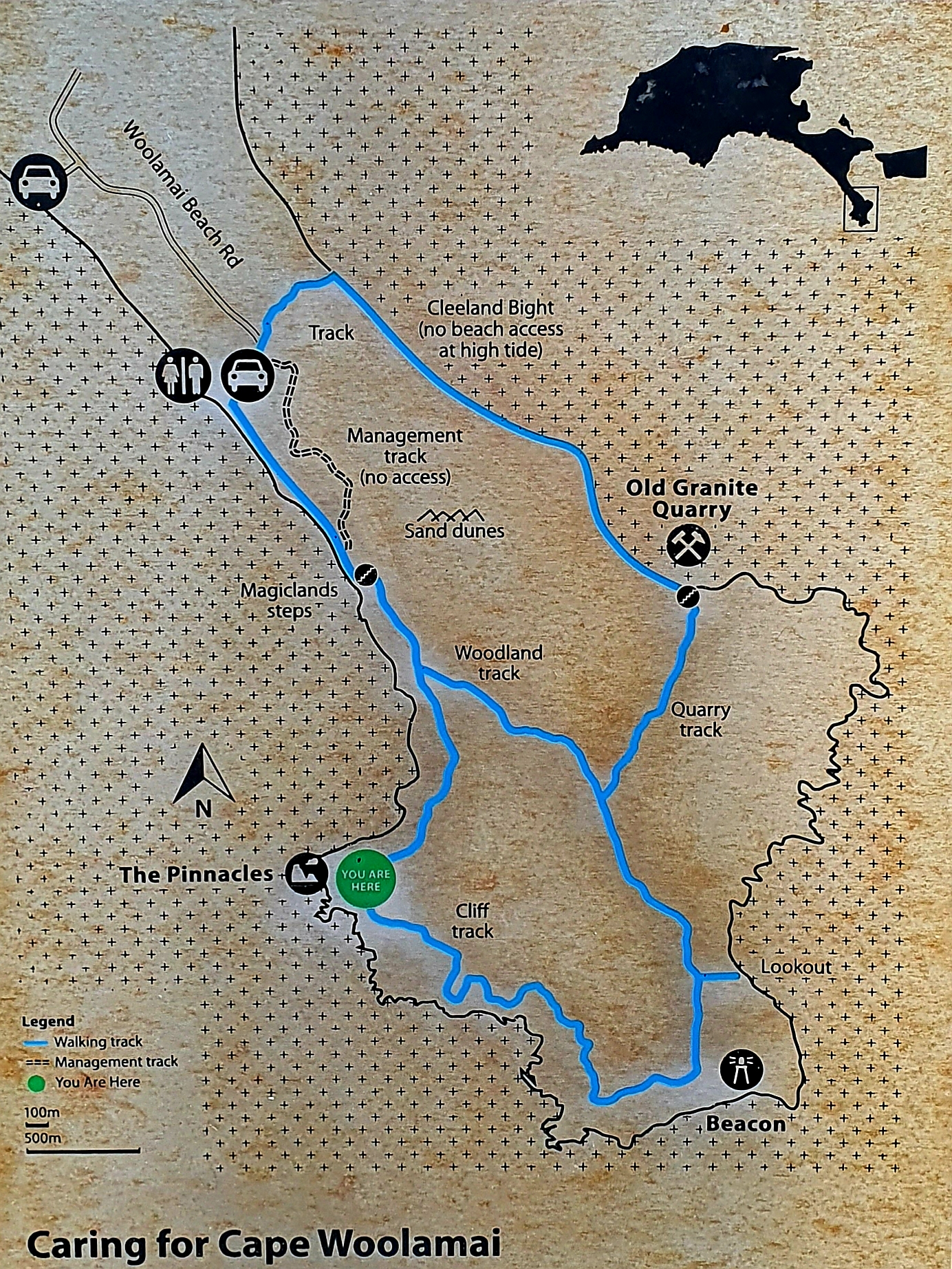 Cape Woolamai: mapa szlaków pieszych
