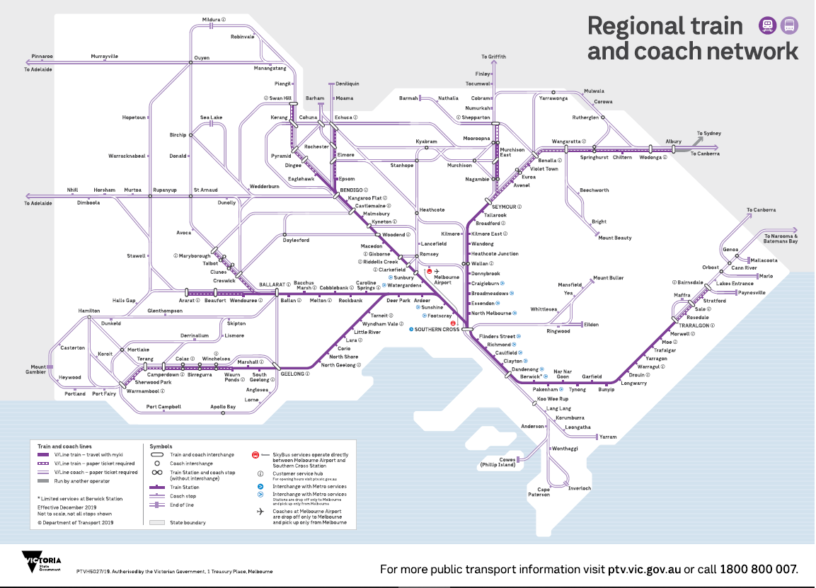Phillip Island public transport map