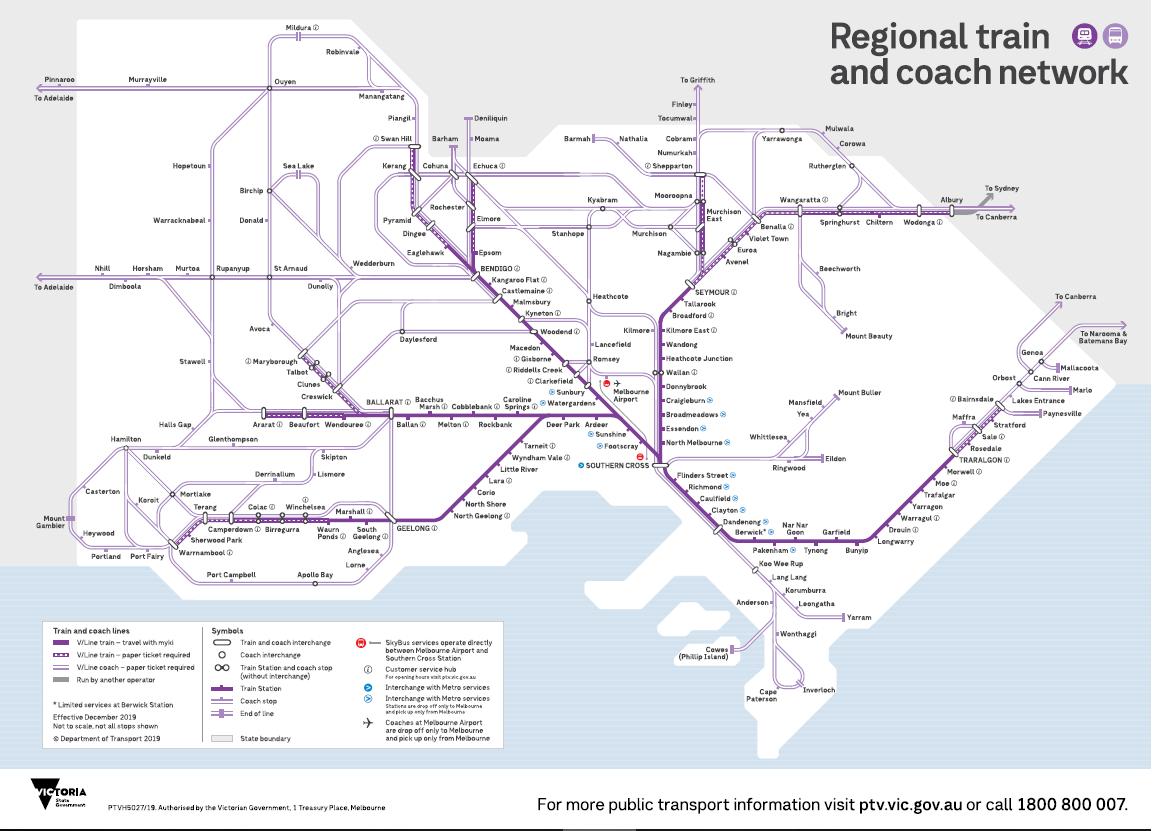 Phillip Island komunikacja publiczna mapa