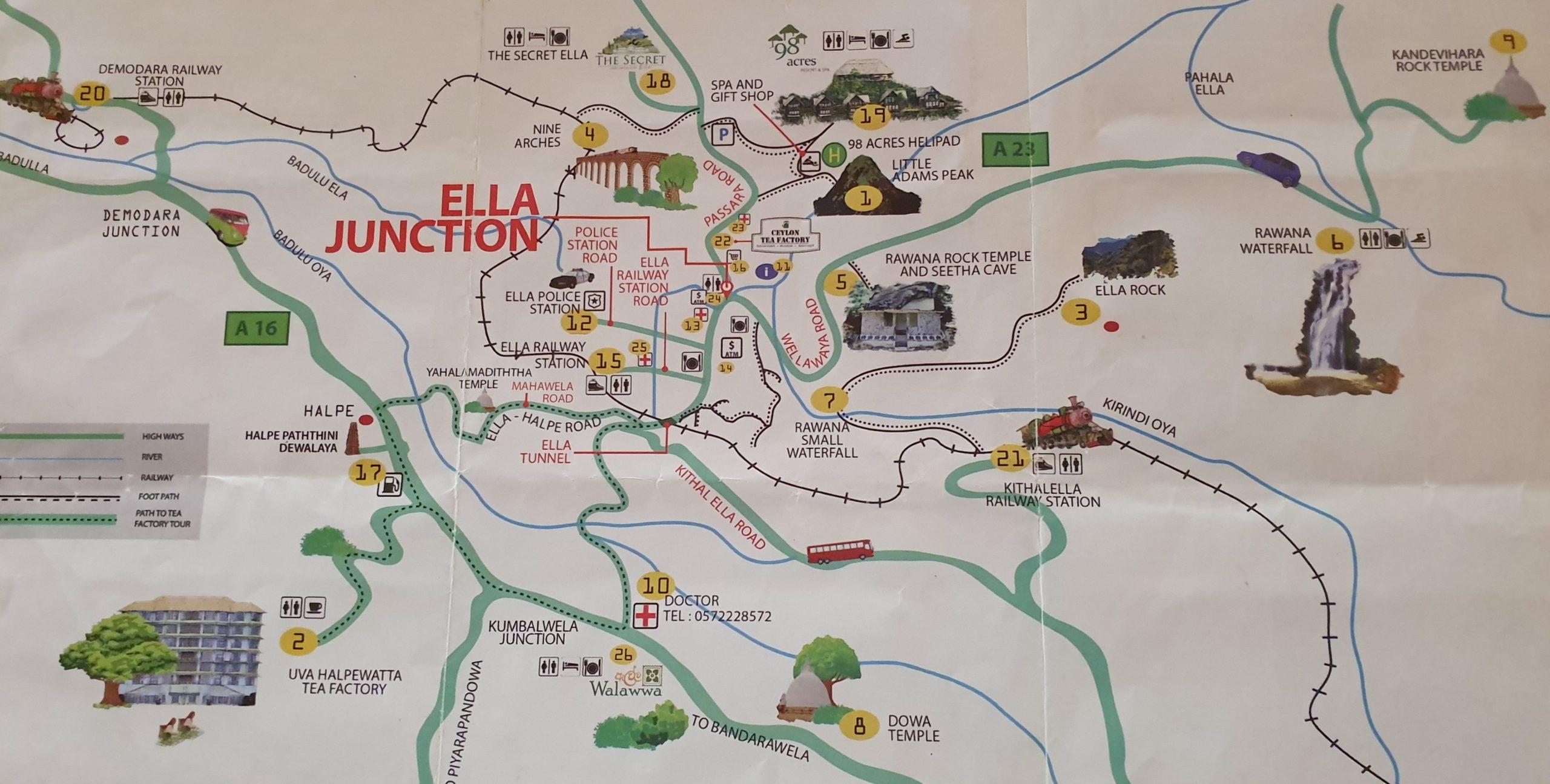Mapa miejscowości Ella