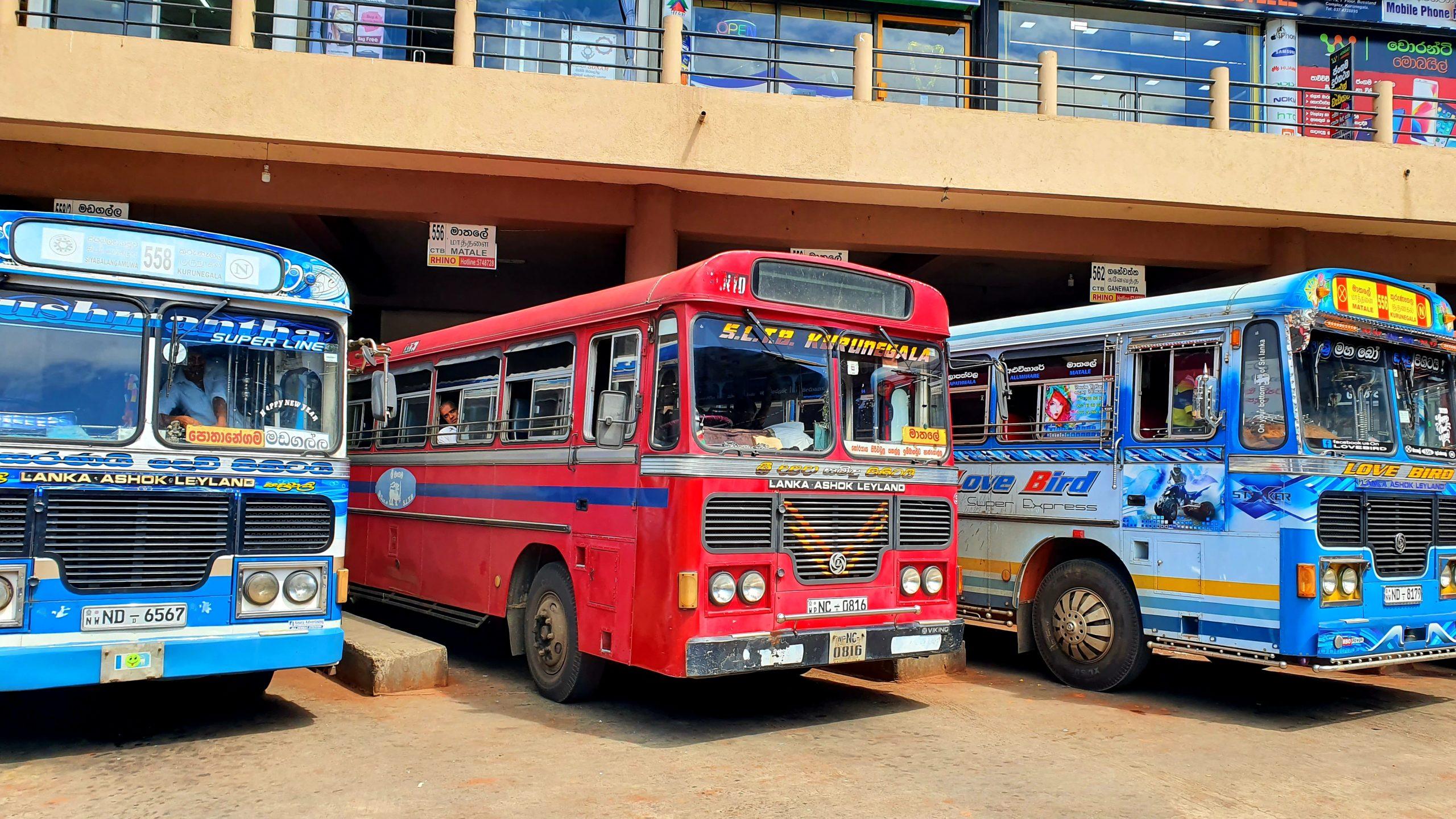 Sri Lanka autobusy podstawowe informacje