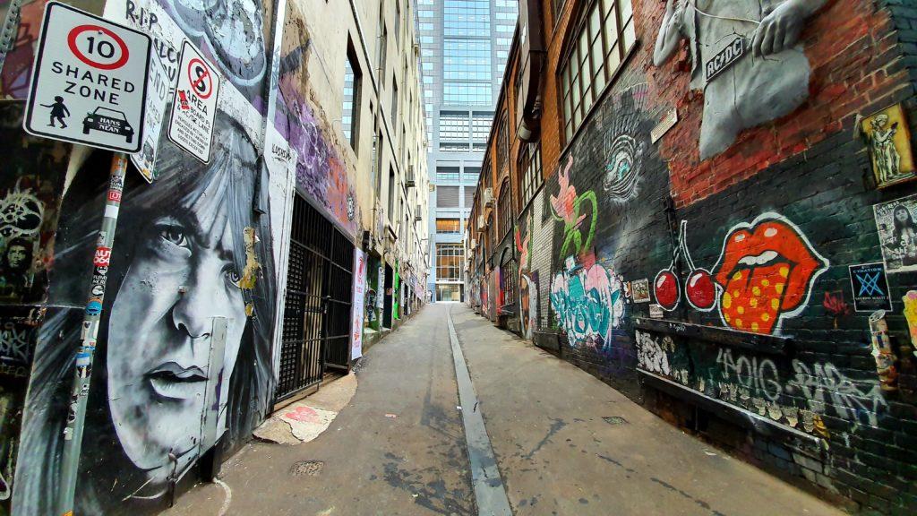 AC DC Lane sztuka uliczna Melbourne