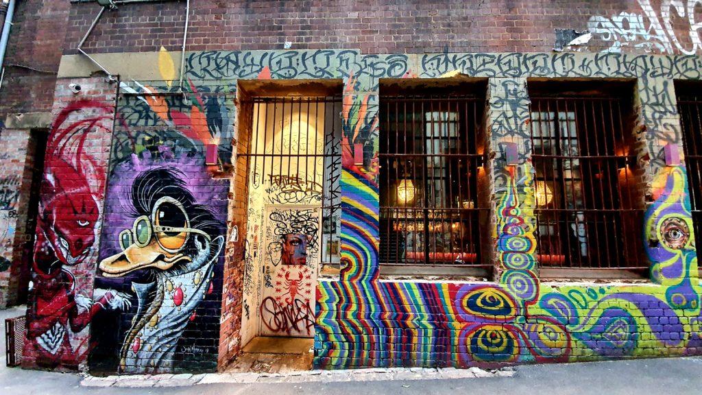 AC DC Lane street art Melbourne