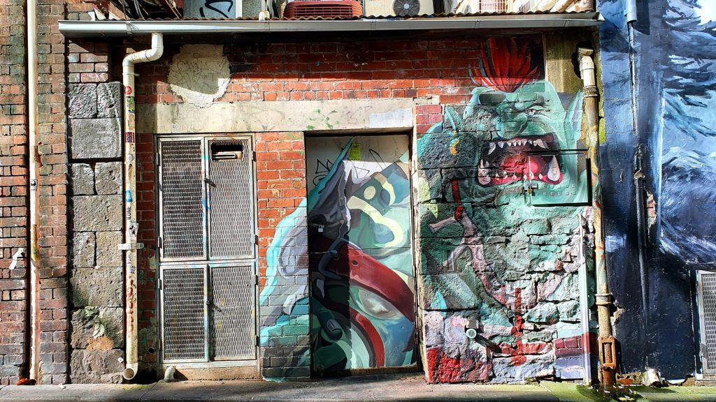 Caledonian Lane sztuka uliczna Melbourne