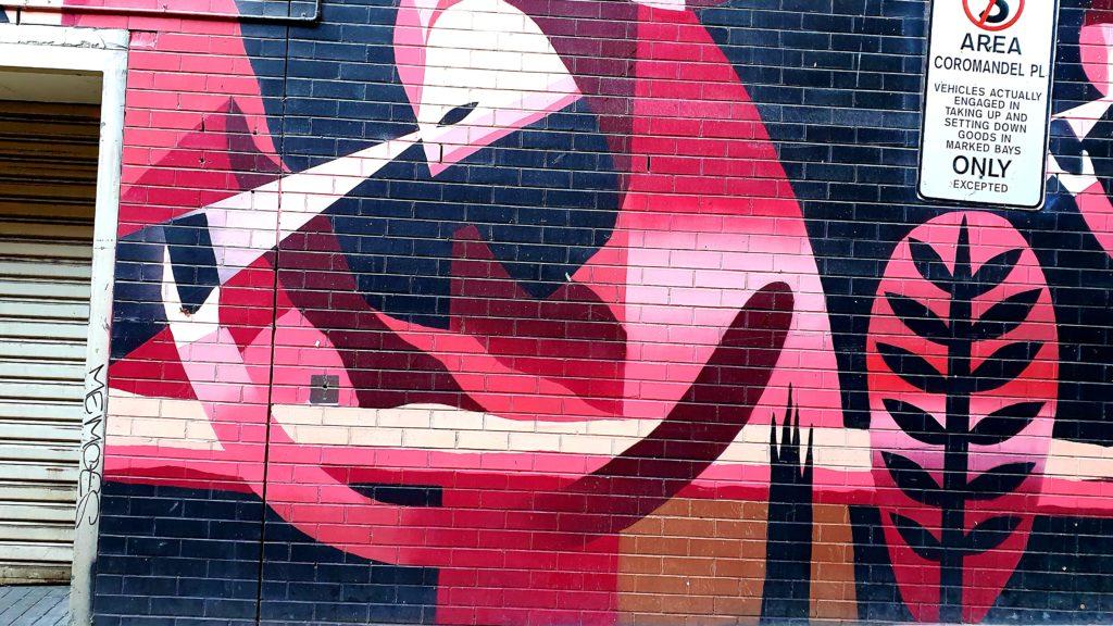 Coromandel Place sztuka uliczna Melbourne