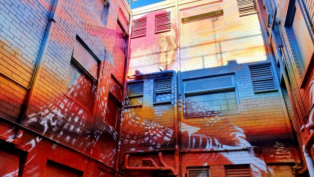 Hotel Miami Melbourne sztuka uliczna