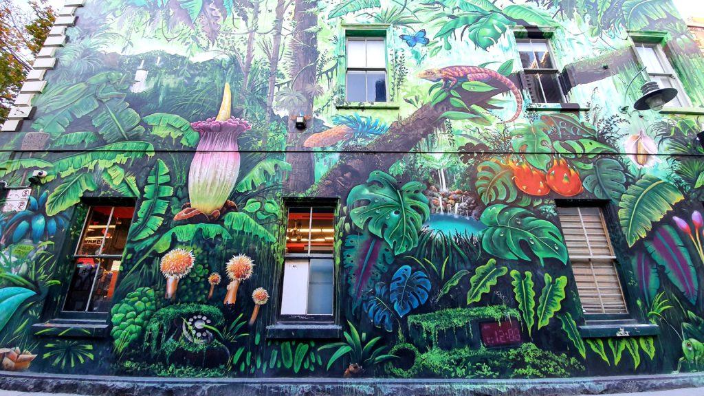 Meyers Place Melbourne sztuka uliczna