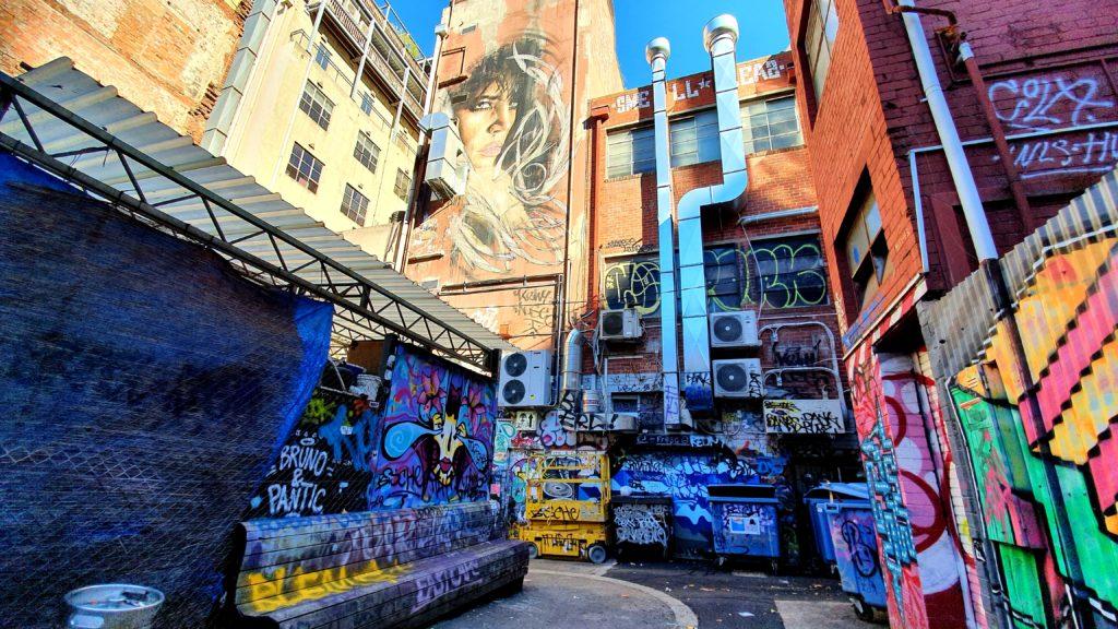 Tattersalls Lane Melbourne sztuka uliczna