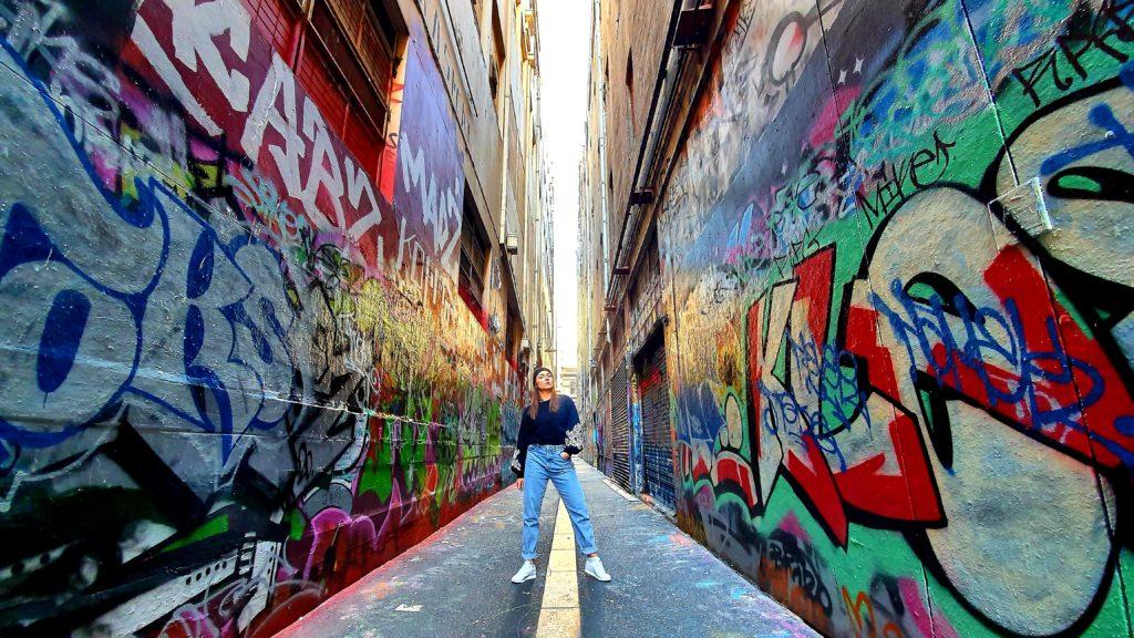 Union Lane street art Melbourne