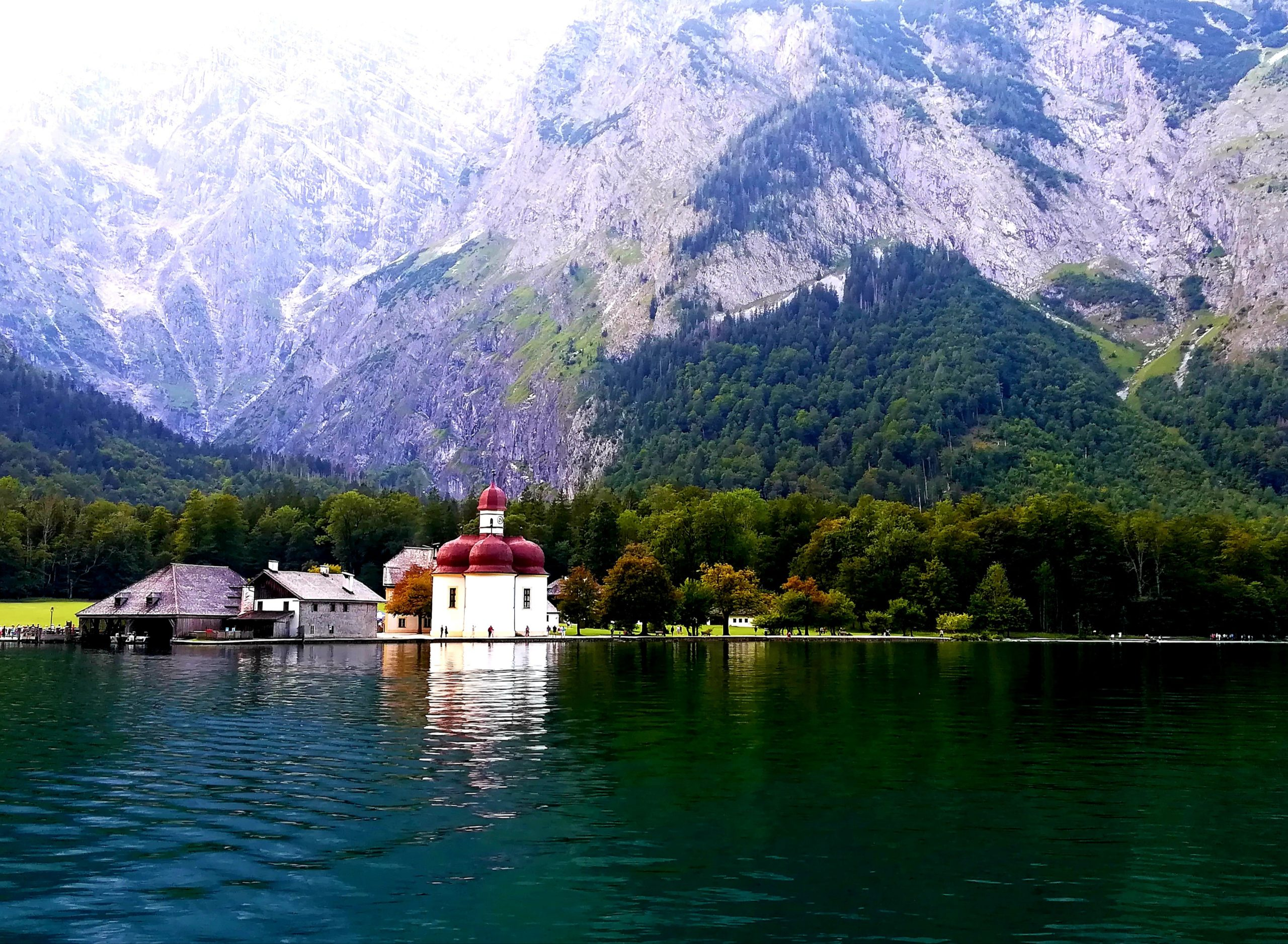 Jezioro Königssee Bawaria miejsca dla aktywnych