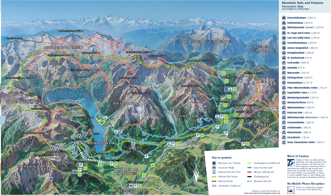 Berchtesgaden National Park map