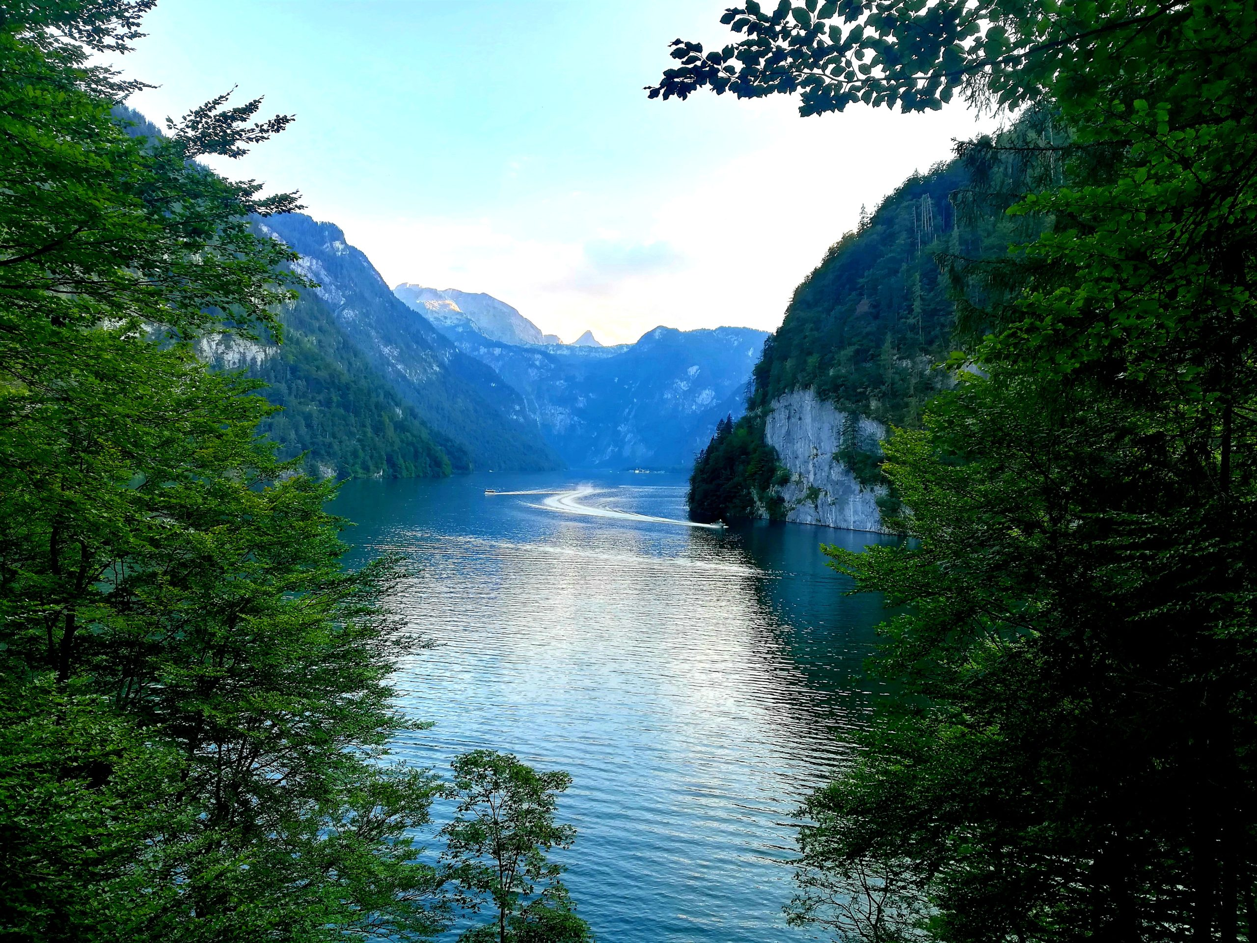 Lake Königssee German and Austrian Alps in summer