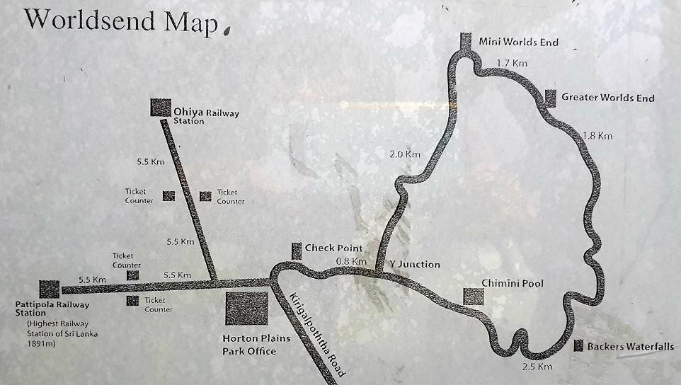 Horton Plains map