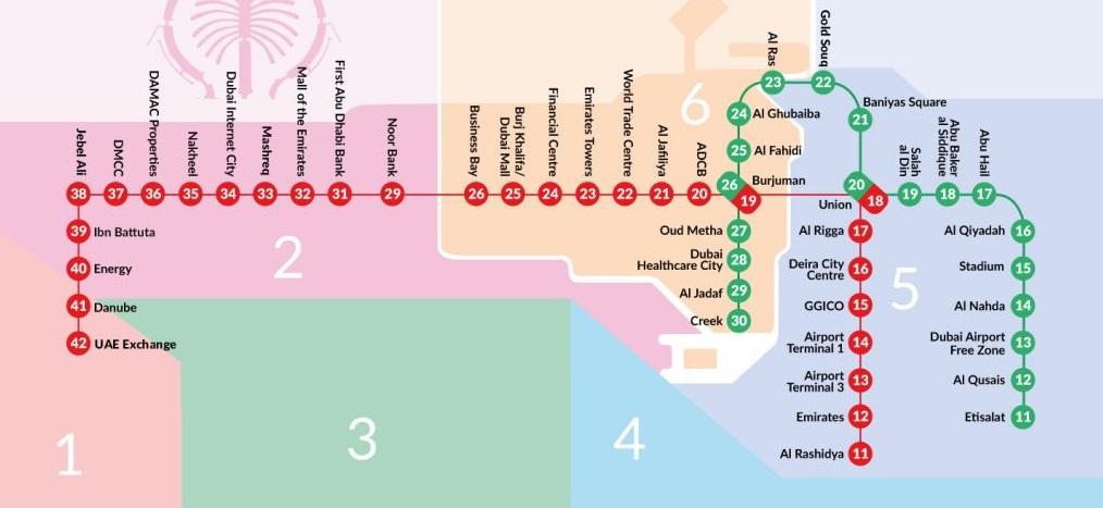 Sylwester w Dubaju metro