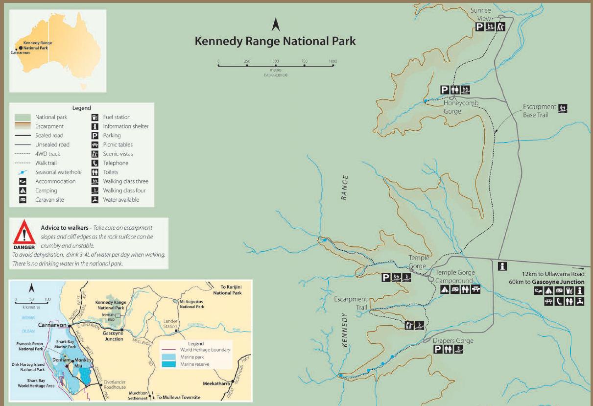 Kennedy Range National Park map