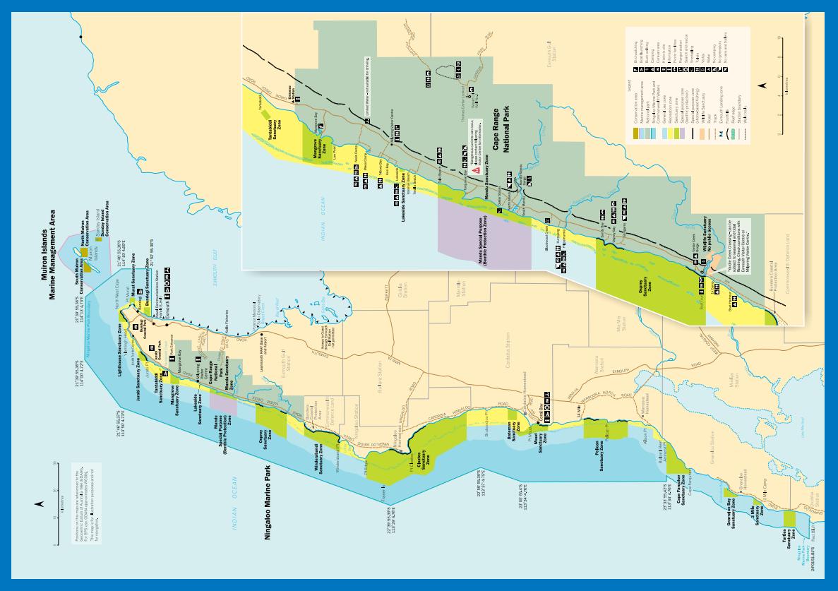 Park Narodowy Cape Range mapa