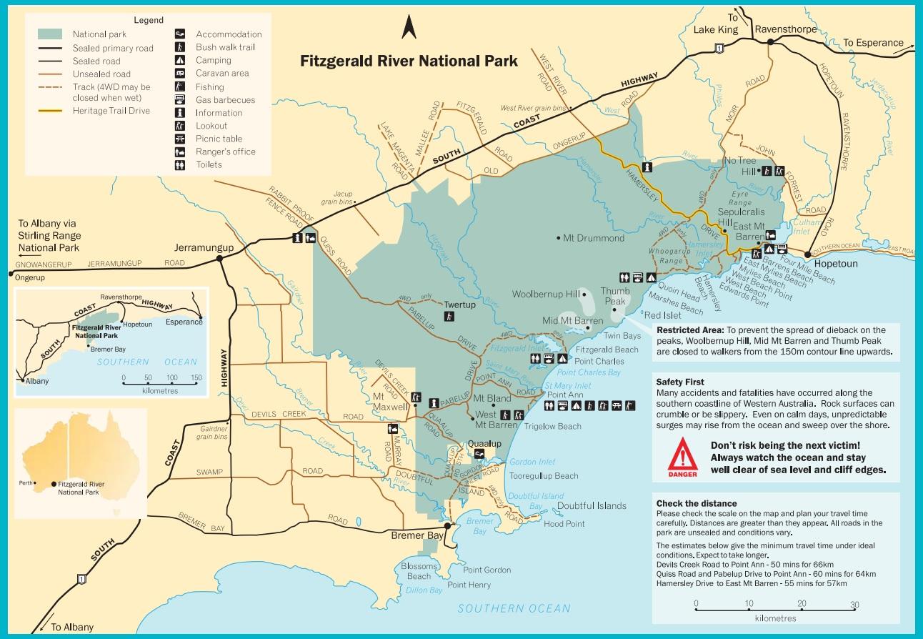 Park Narodowy Fitzgerald River mapa