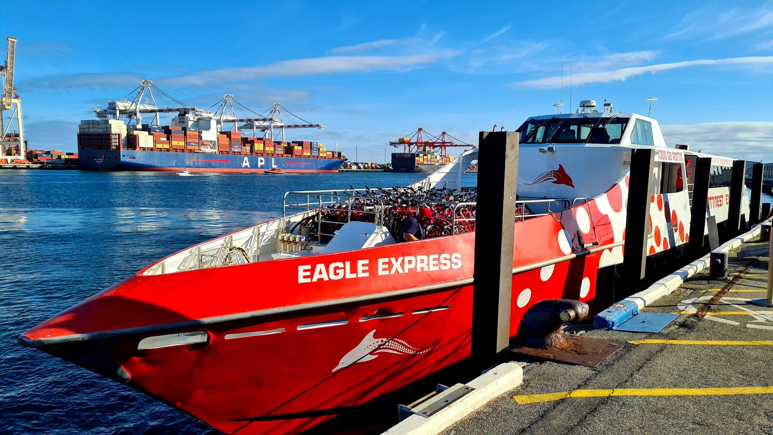 A ferry to Rottnest Island