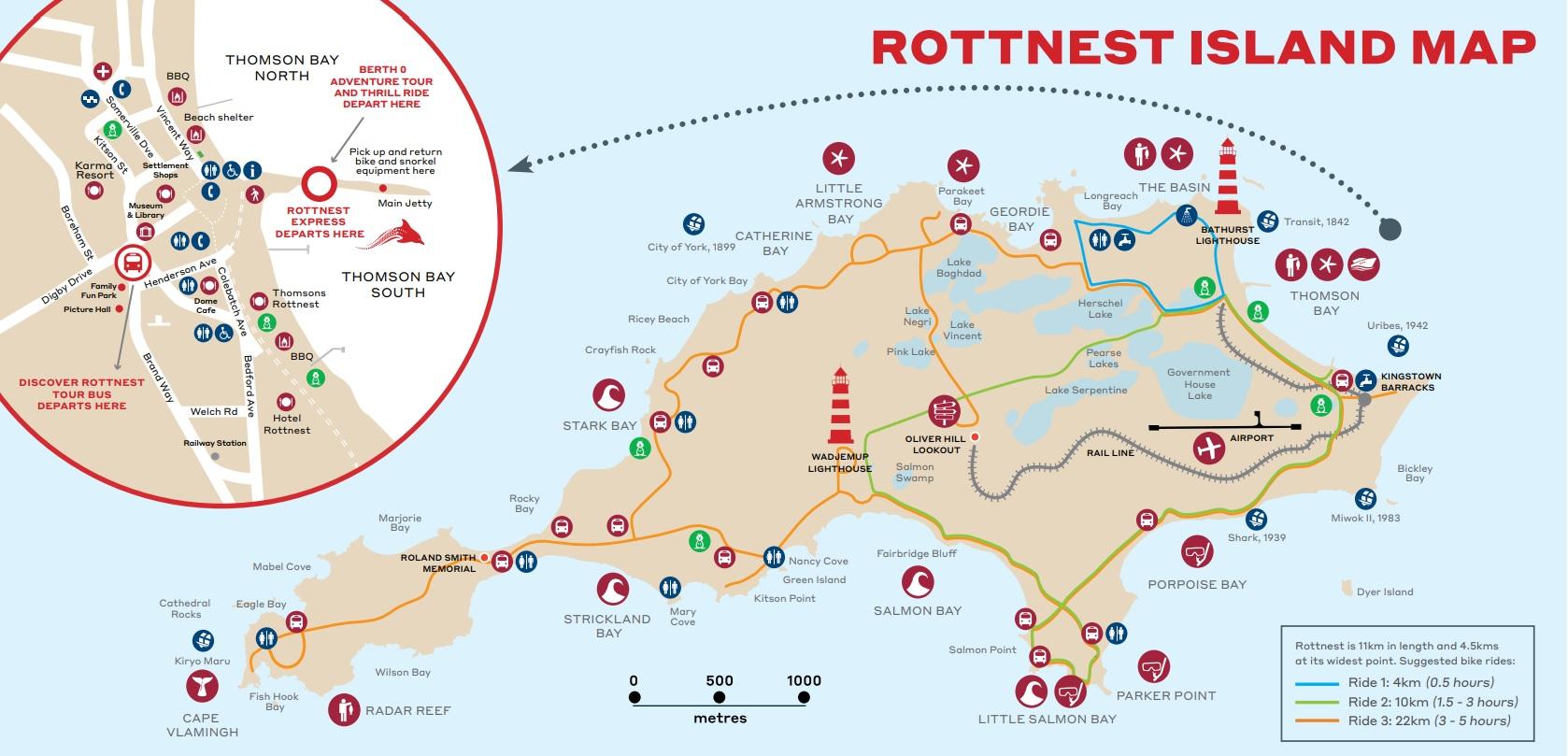 Rottnest Island mapa